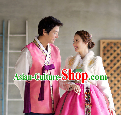 Korean Winter Couple National Costumes Traditional Costumes online Shopping