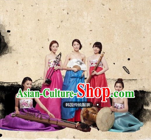 Traditional Korean Clothing 5 Sets for Sexy Girls Singers Group