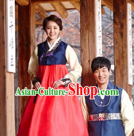 Korean Couple Cusotm Made National Costumes Traditional Hanbok Clothes online Shopping