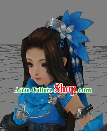 Custom Made According to Your Picture Asian Chinese Ancient Fairy Long Black Wigs