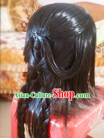 Custom Made According to Your Picture Asian Chinese Ancient Traditional Male Long Wigs