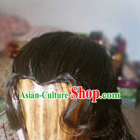Zhong Hanliang Yi Shuihan Asian Chinese Ancient Traditional Curly Long Wig for Men