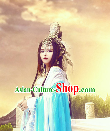 Asian Chinese Ancient Traditional ong Wigs and Hair Accessories for Women