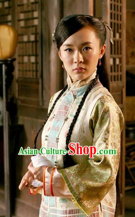 Asian Chinese Ancient Traditional Long Wigs and Hair Accessories for Women