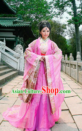 Asian Fashion Chinese Princess Dress and Hair Accessories Full Set for Women