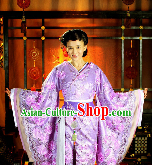 Chinese Traditional National Costume Princess Outfits and Headwear