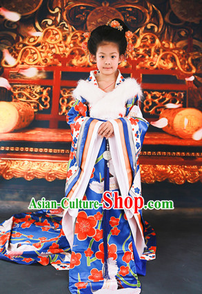 Asian Traditional Empress Costumes and Headpieces for Kids