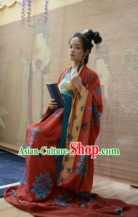 Chinese Traditional Clothing Chinese Ancient Reader Costumes and Headpieces Free Delivery Worldwide