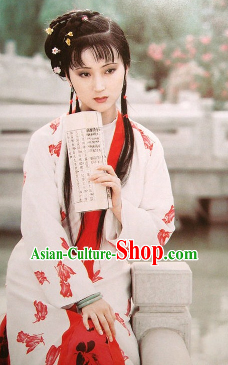 Dream of Red Chamber Lin Daiyu Clothing Costumes Chinese Han Clothing Free Delivery Worldwide