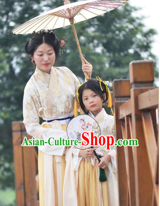 Traditional Chinese Han Clothing for Mother Free Delivery Worldwide