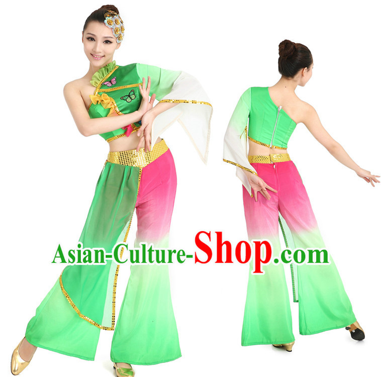 Chinese Girls Dancewear Fan Dance Stores online and Headpieces for Women