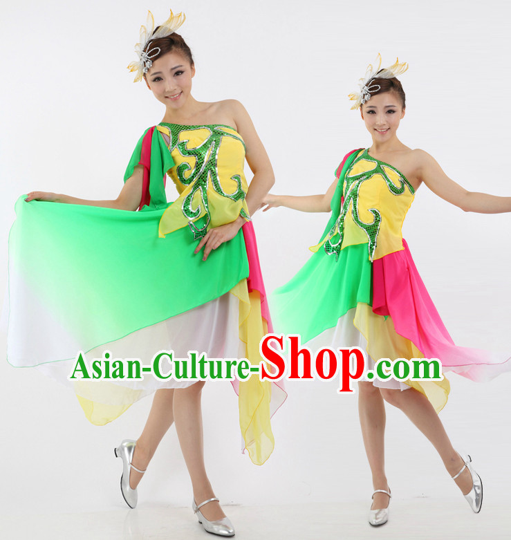 Chinese Traditional Drum Beating Dance Attire Discount Dance Dostumes Discount Dance Supply for Women