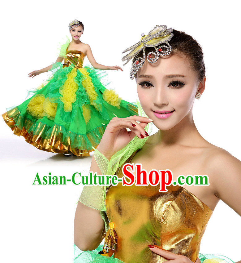 Chinese Stage Costumes Dance Stores Dance Gear Dance Attire and Hair Accessories