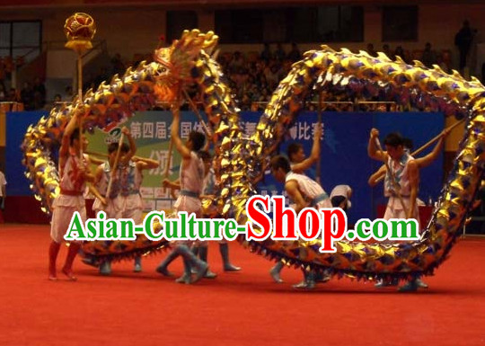 Handmade Shinning Grand Opening Professional Competition and Festival Celebration Dragon Costumes Complete Set
