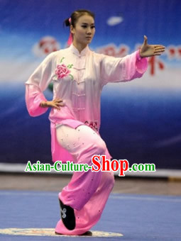 Color Transition Tai Chi Yoga Clothing Yoga Wear Yoga Shop Yoga Pants Yang Tai Chi Quan Kung Fu Uniforms