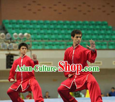 Top Red Color Tai Chi Yoga Clothing Yoga Wear Yang Tai Chi Quan Kung Fu Practice Uniform for Men