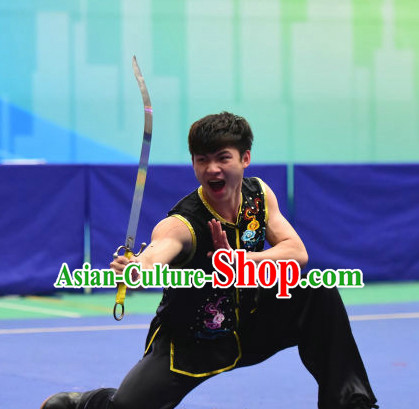 Top Chinese Southern Fist Wu Shu Kung Fu Sword Uniforms Kungfu Uniform Martial Arts Competition Costumes for Men