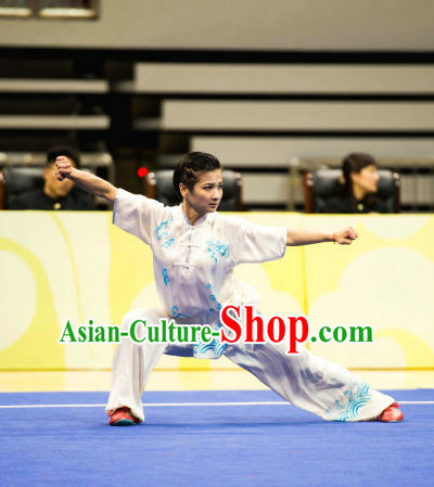 Top Chinese Martial Arts Competition Uniform Kung Fu Suit Eagle Fist Mantis Boxing Monkey Fist Gongfu Costumes Complete Set for Women