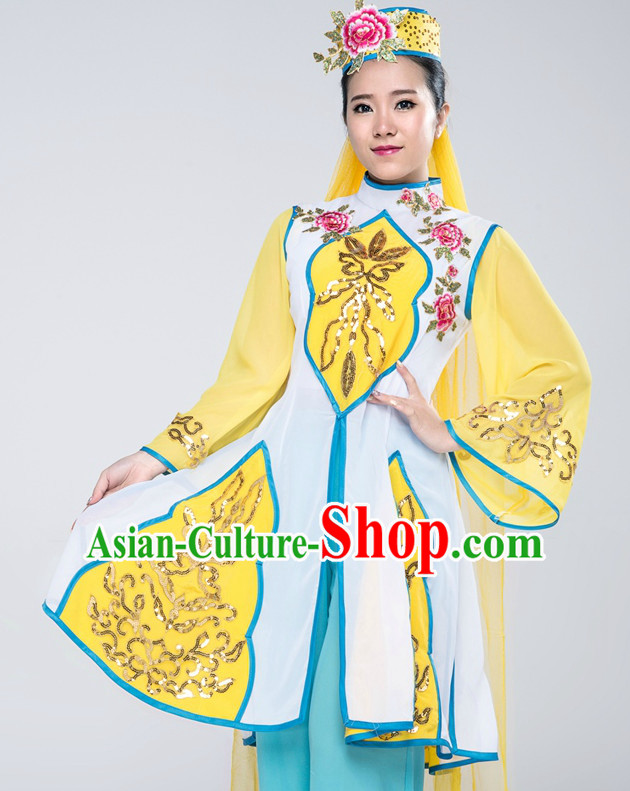 Traditional Chinese Ethnic Dance Costumes Complete Set for Women