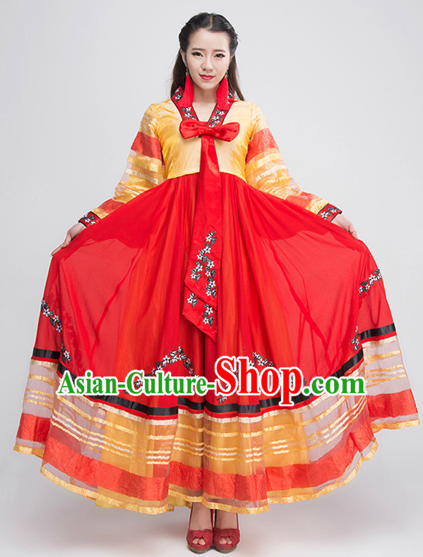 Traditional Chinese Korean Ethnic Clothing Complete Set for Women