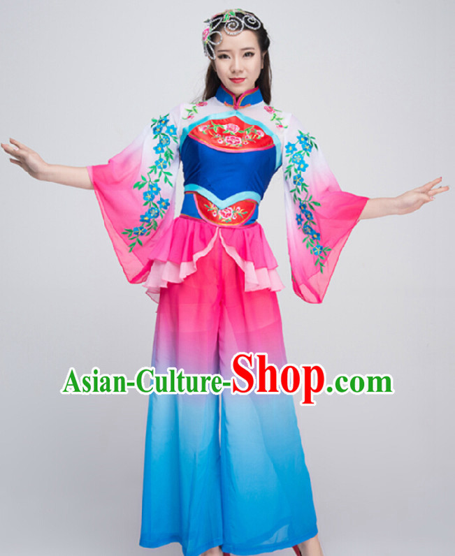 Traditional Chinese Flower Dance Costumes for Competition