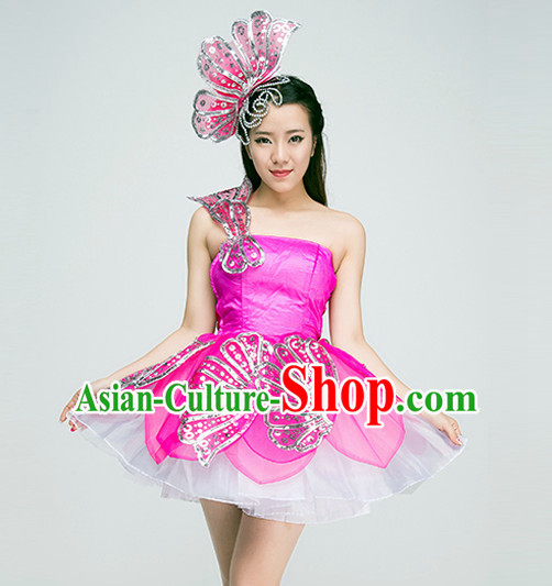 Chinese Girls Dancewear Dance Costumes for Competition
