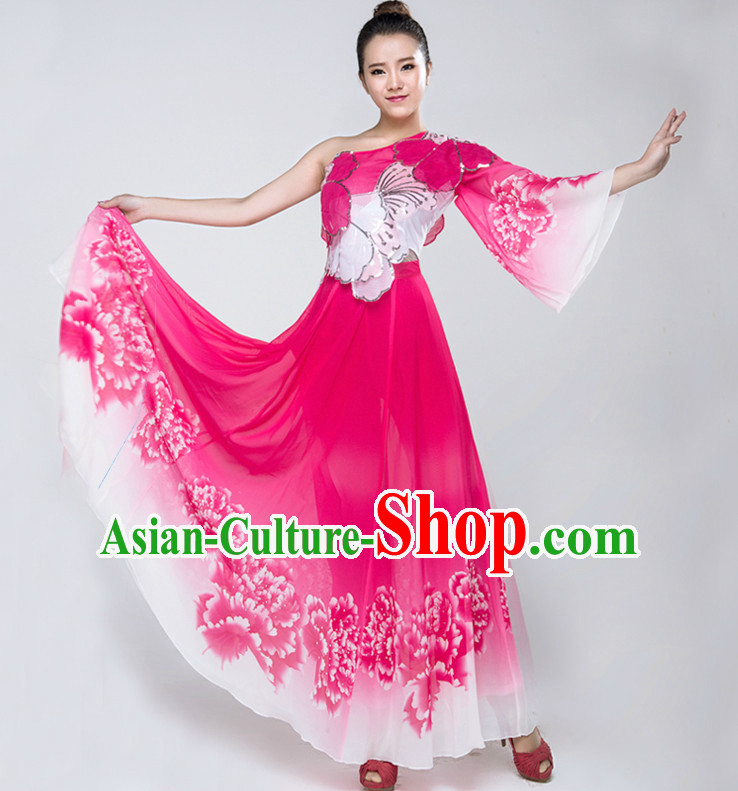 Chinese Lyrical Dance Costumes Girls Dancewear Dance Costume for Competition