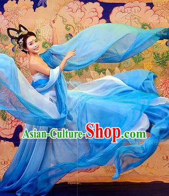 Chinese Fairy Kimono Dresses and Hair Jewelry Complete Set