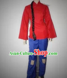 Chinese Poor Girl Costumes Complete Set for Women