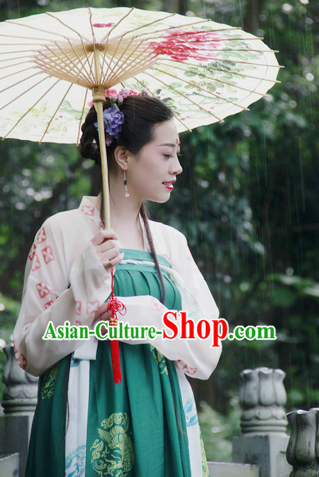 Chinese Umbrella Costumes Complete Set for Women