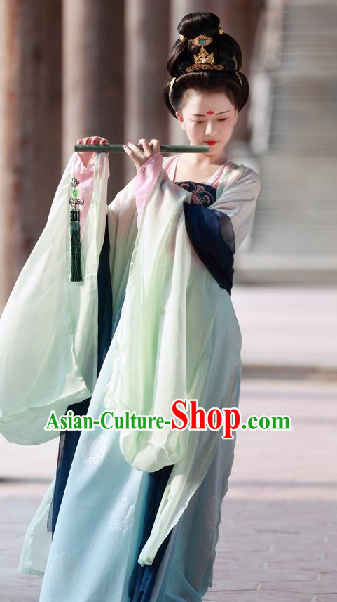Chinese Tang Summer Dress for Ladies