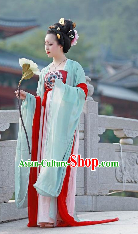 Chinese Tang Dynasty Summer Dress for Ladies