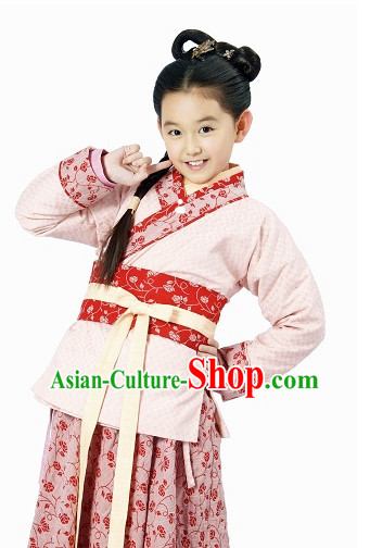 Traditional Ancient Chinese Hanfu Suit for Kids