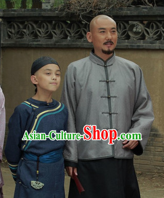 Chinese Costumes Mandarin Dress and Hat for Kids