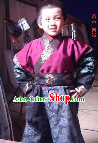 Ancient Chinese Prince Costumes Complete Set for Adults and Kids