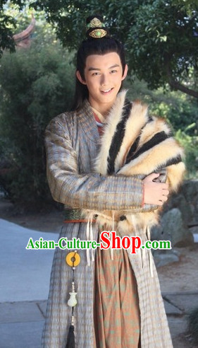 Chinese Ancient Swordsman Costumes Complete Set for Teenagers or Adults