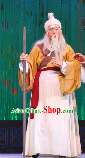 Chinese Beijing Opera Old Farmer Man Costumes