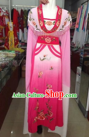 Long Sleeve Chinese Opera Hua Dan Costume Complete Set for Women