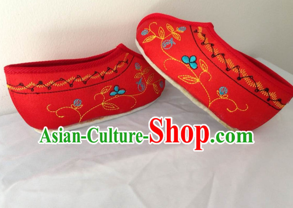 Chinese Opera Three-Cun Lily Feet Shoes