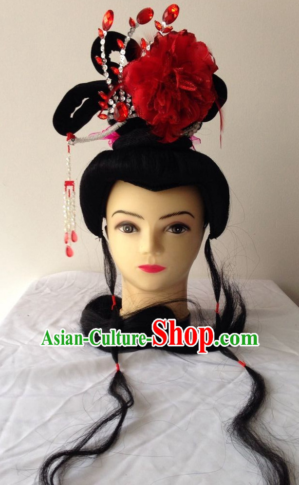 Chinese Beijing Opera Wig and Hair Accessories