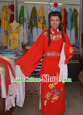Asian Fashion Chinese Jia Baoyu Costume and Coronet Complete Set