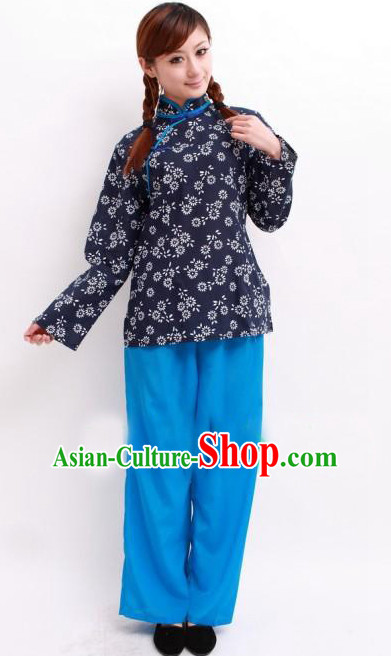 Asian Fashion Chinese Poor Girl Costumes for Women