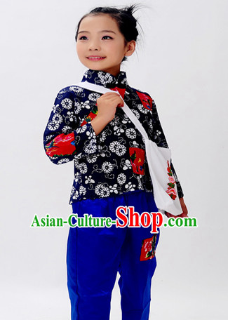 Asian Fashion Chinese Old Society Village Poor Kids Costumes