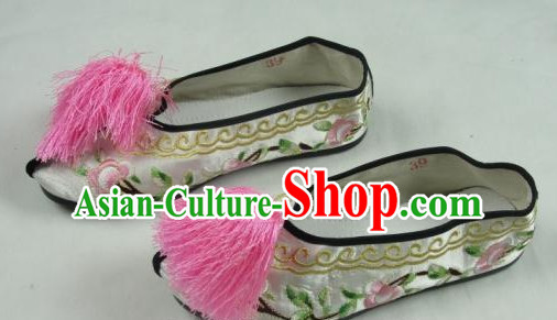 Chinese Peking Opera Embroidered Shoes for Artists