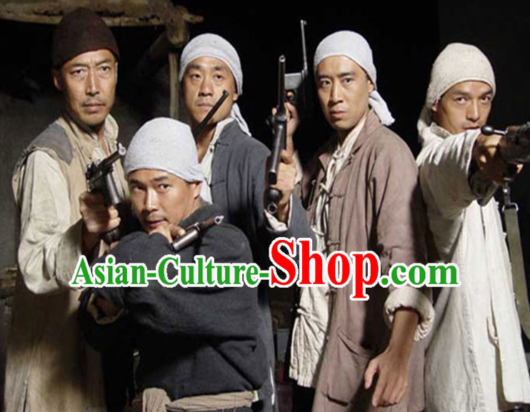 Asian Fashion Chinese Shanxi Farmer Costumes for Men
