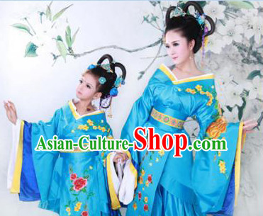 Chinese Ancient Mother and Daughter Hanfu Dress 2 Sets