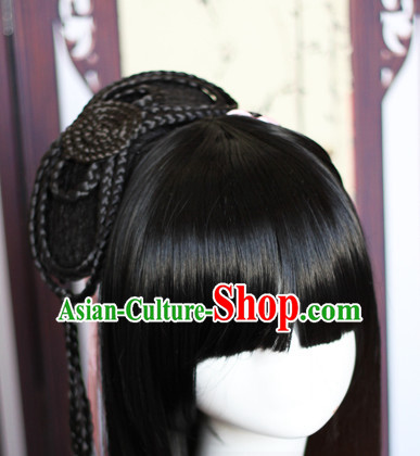 Chinese Traditional Black Long Wig