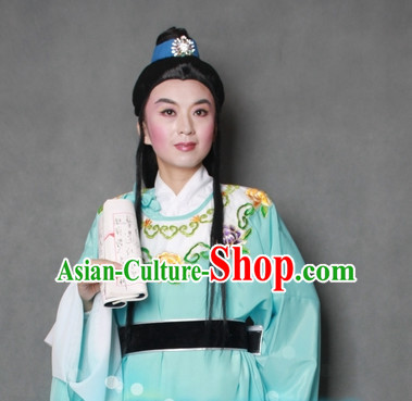 Chinese Style Beijing Opera Costumes and Hair Accessory for Men