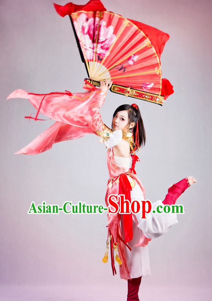 Asia Fashion Chinese Classical Dancing Costumes Complete Set for Kids or Adults