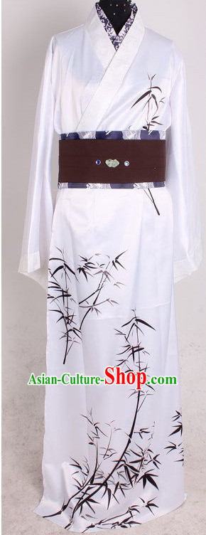 Asia Fashion Top Chinese Bamboo Hanfu Costumes Complete Set for Men